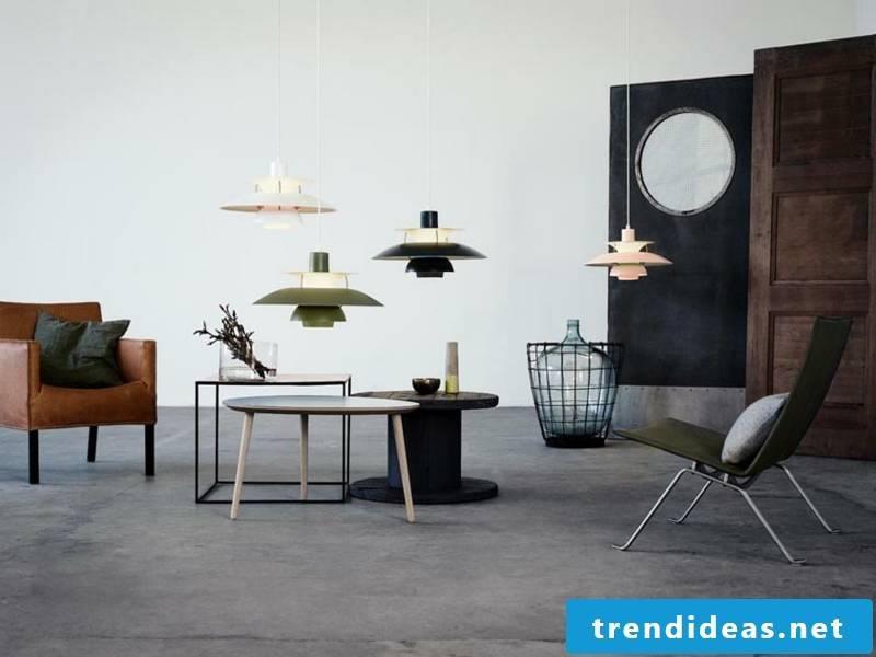 four designer lamps