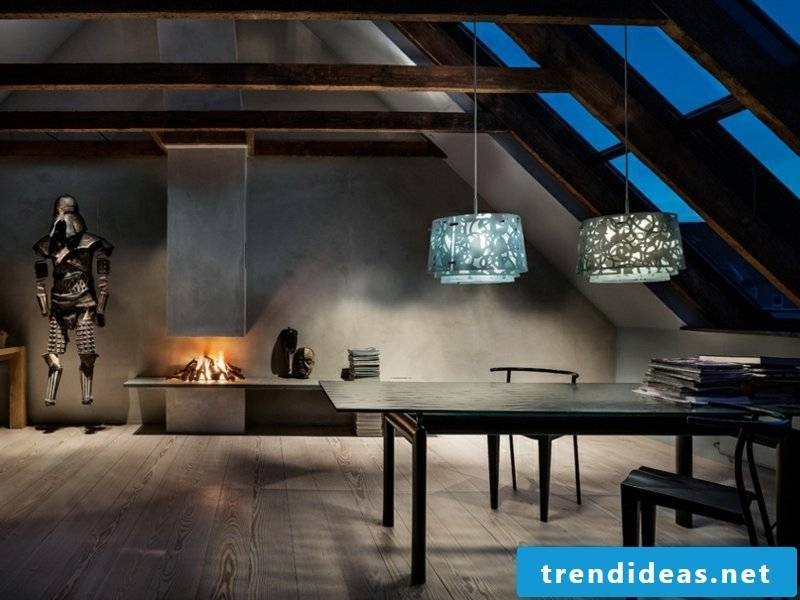 beautiful hanging with two ceiling lights