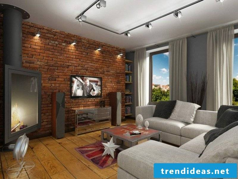 Two types of lighting in the living room furniture