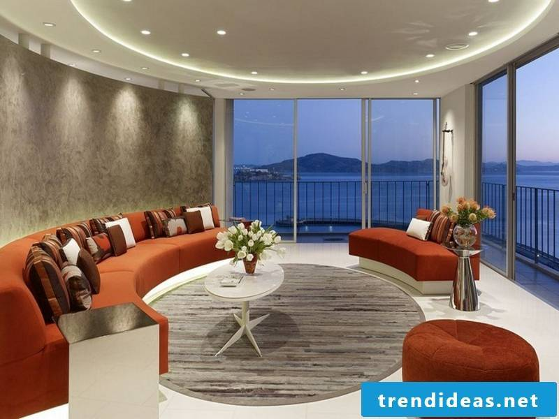 round living room lighting and led lamps
