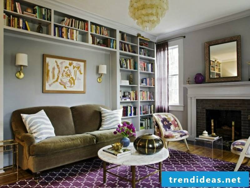 Wadleuchten in dne living room furniture