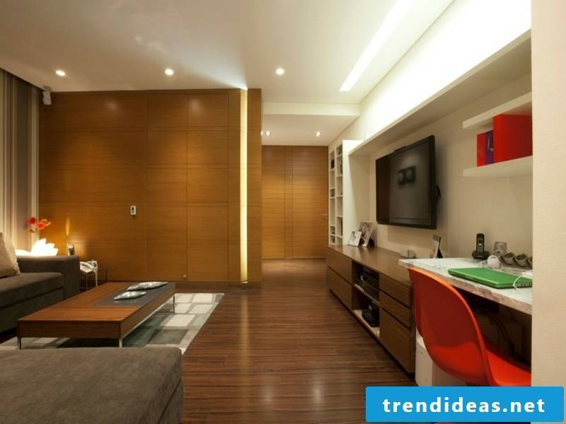 recessed lights in the living room
