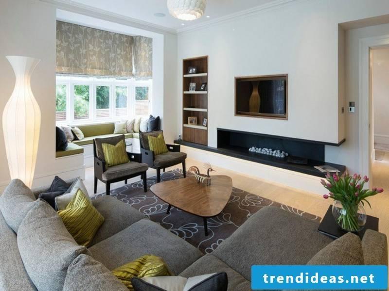 beautiful lamp in the living room furniture