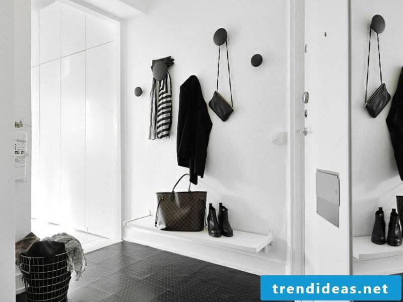 Hallway design stylish black and white