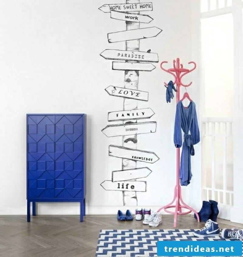 Hallway design original wall sticker