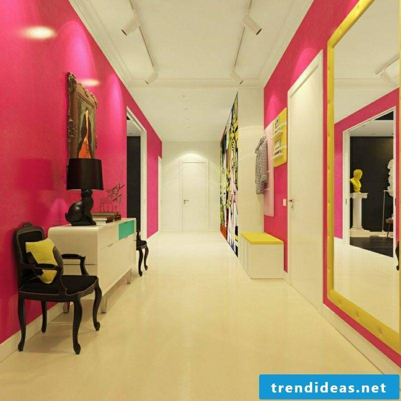 Hallway design color accents