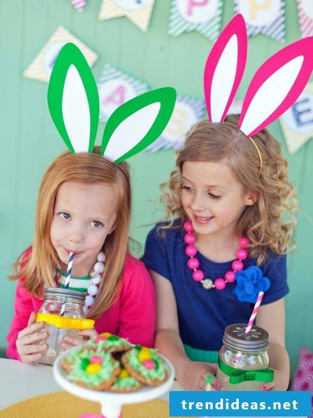 Crafting with children: making bunny ears