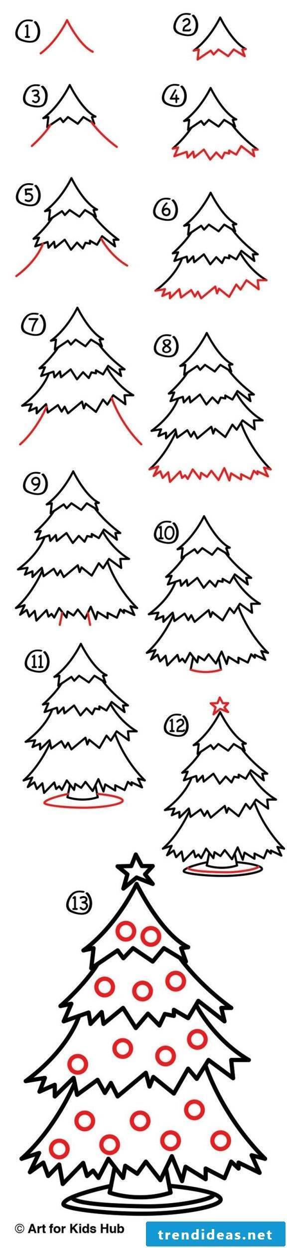 Learn how to draw coloring pages Christmas