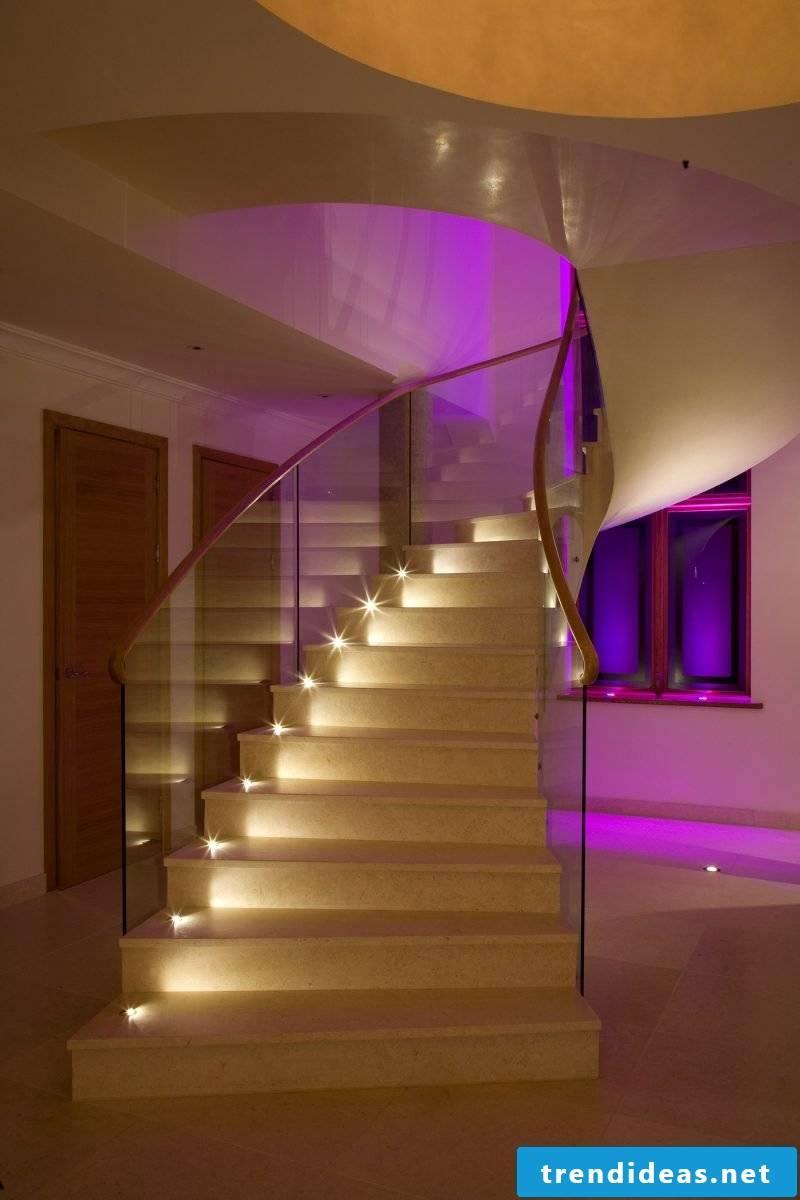 led stair lighting creative