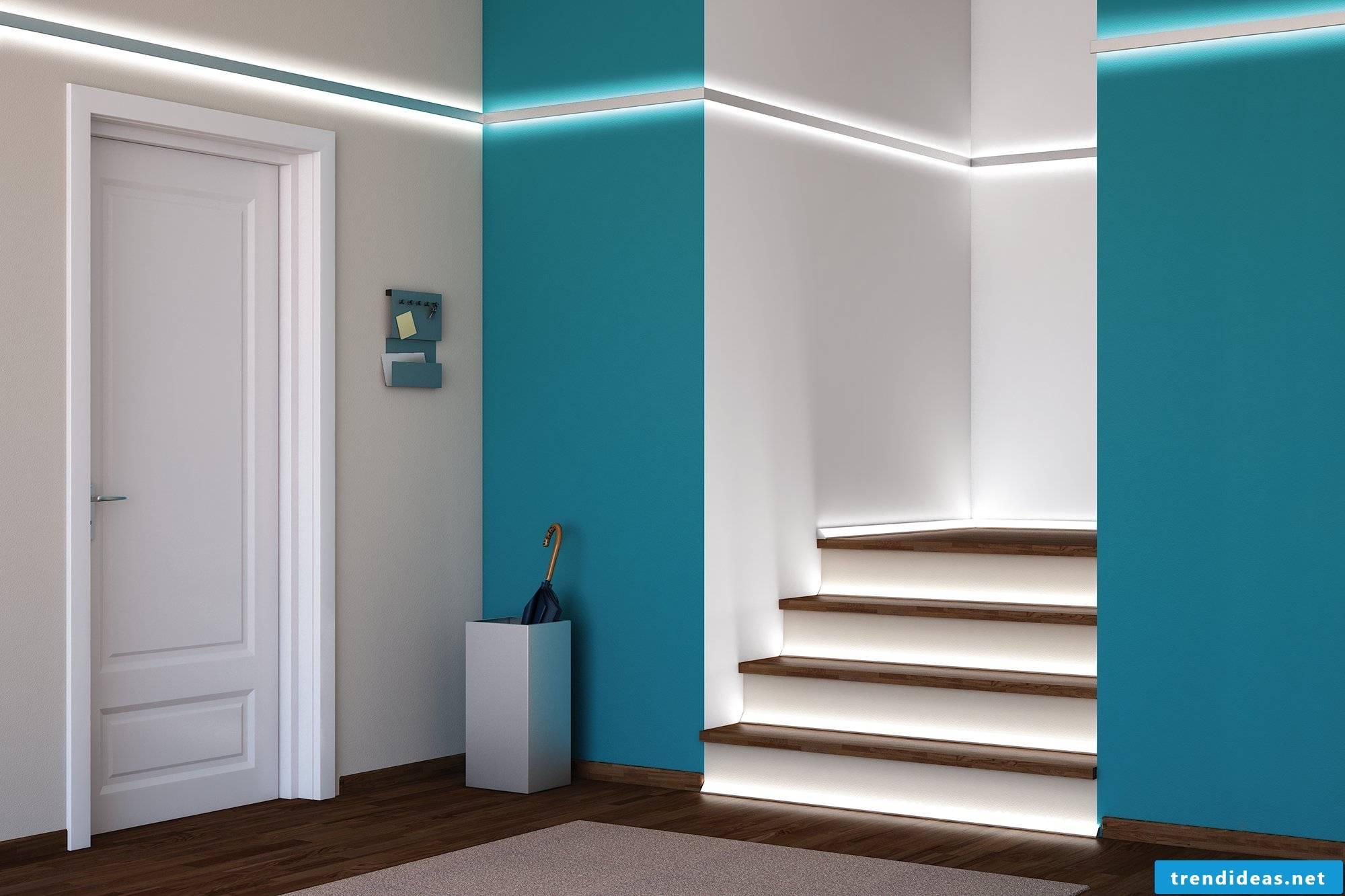 modern led stair lighting