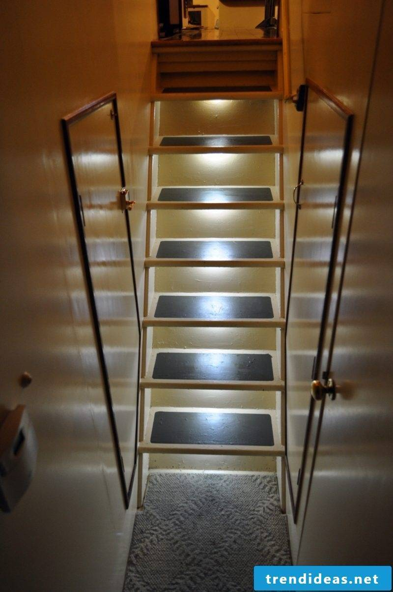 led staircase cream