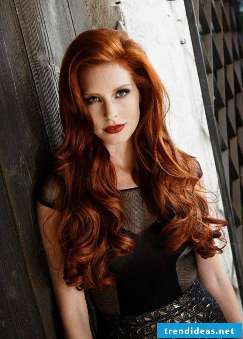Hair color copper light brown long hair