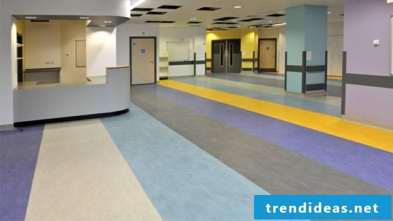 linoleumboden Hospital purple yellow blue