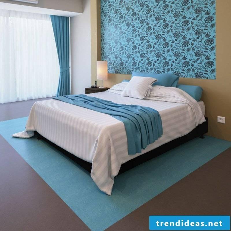 linoleum flooring natural material bedroom