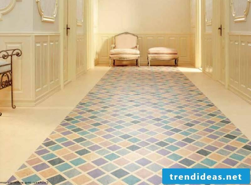 linoleum floor blue purple