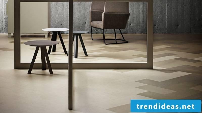 linoleum floor sandy brown