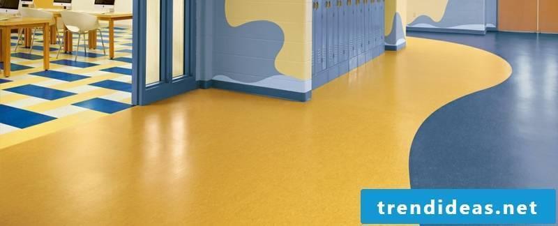 linoleum ground blue yellow