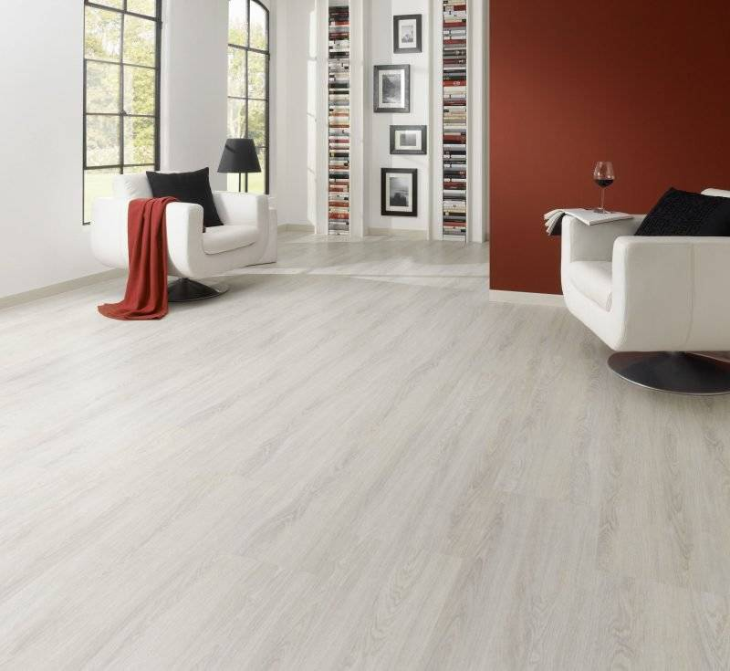 linoleum wood look white