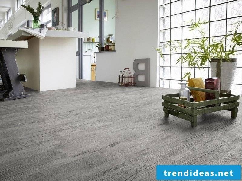linoleum wood look gray