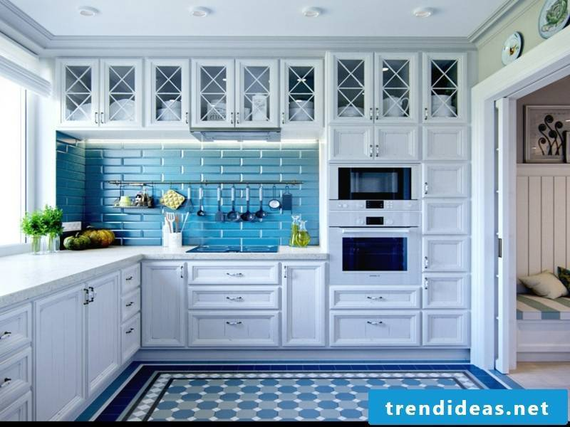 provence kitchen with blue accents