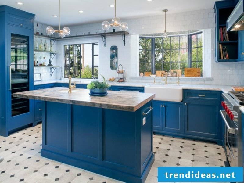 blue provence kitchen