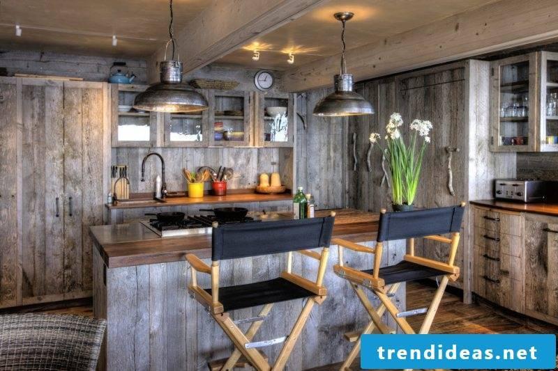 Loft furniture in the kitchen