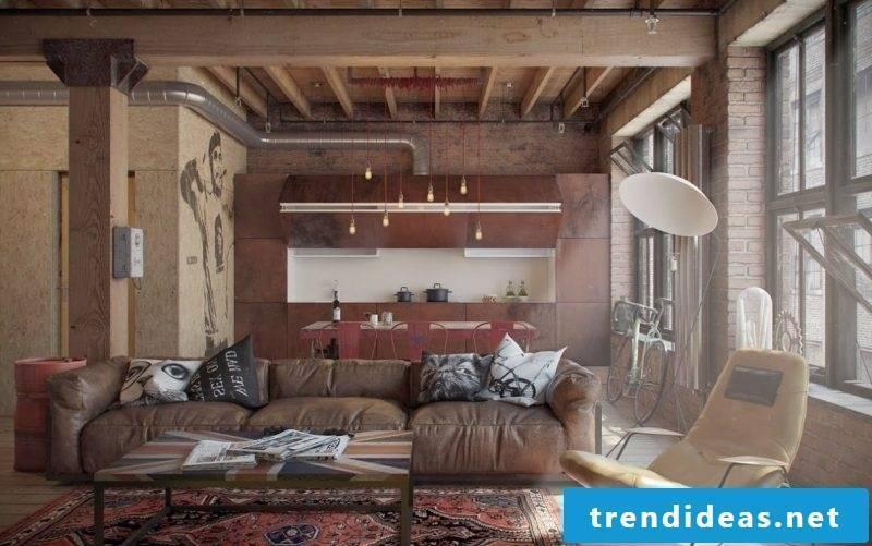 Loft leather furniture