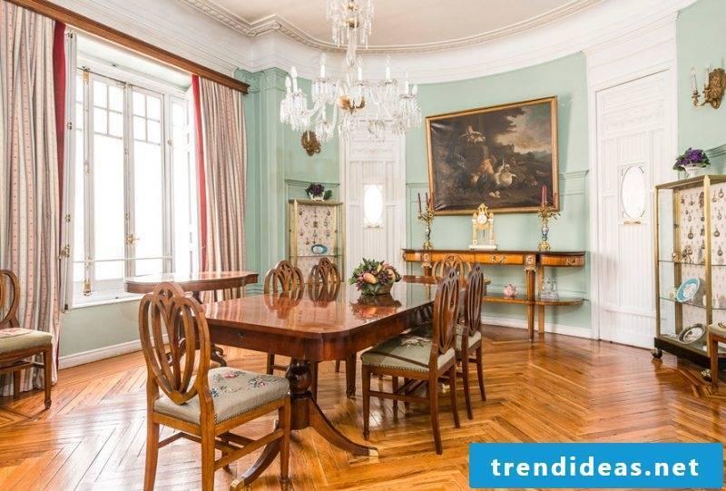 Art Nouveau features dining room design
