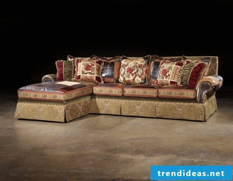 Art Nouveau features sofa