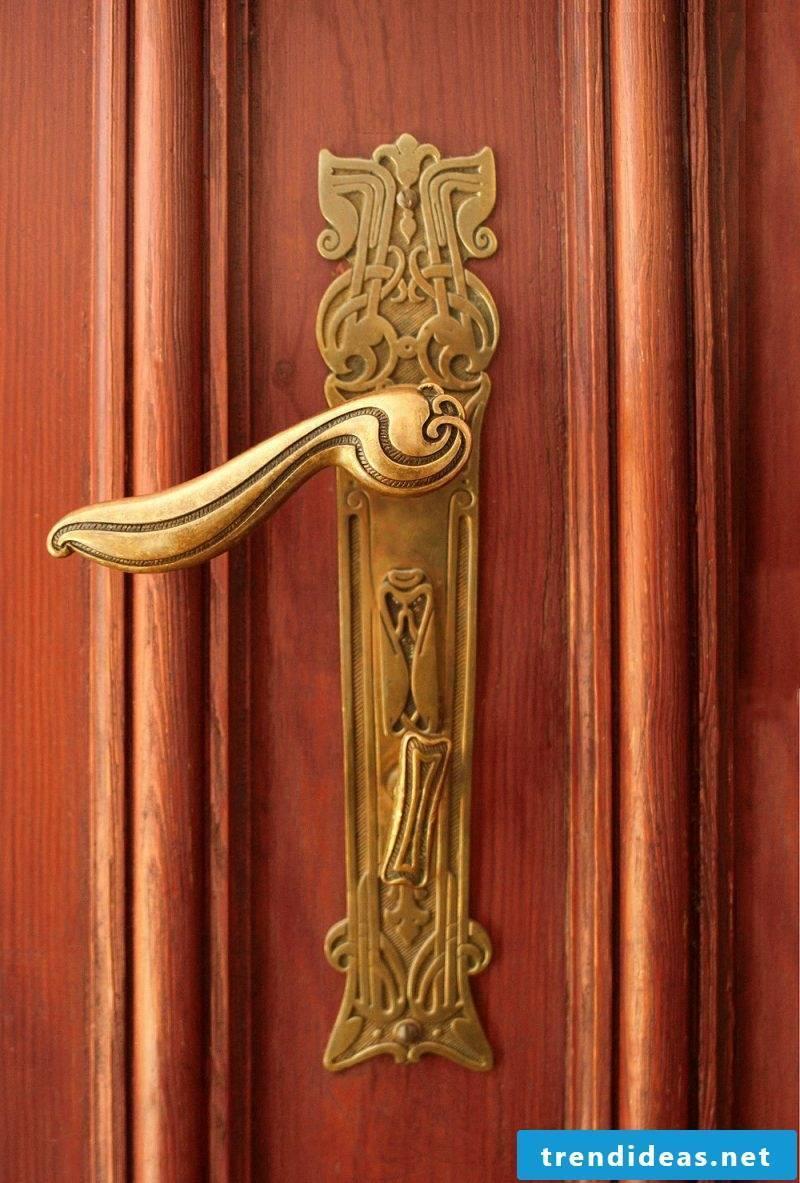 Art Nouveau features door handle