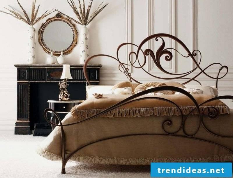 Art Nouveau features bed