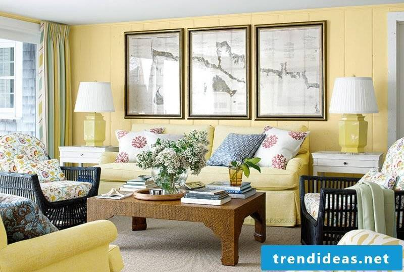 Living room design Country style color scheme
