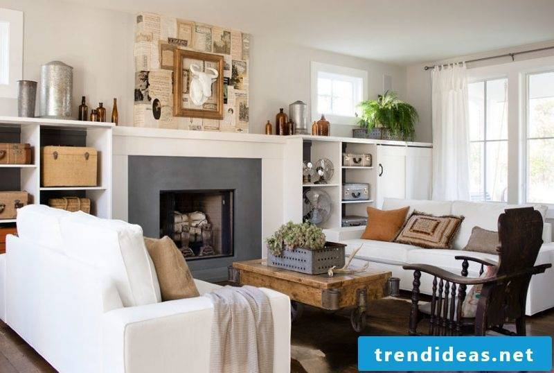 Living room design country style white