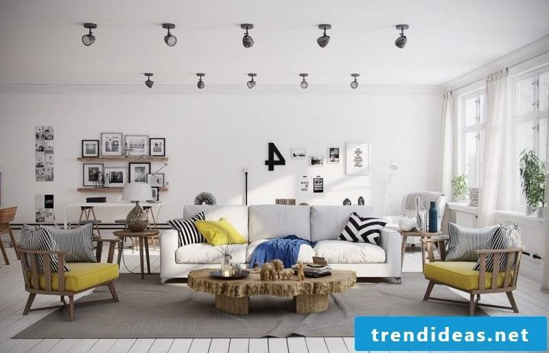 Living room design from Scandinavia