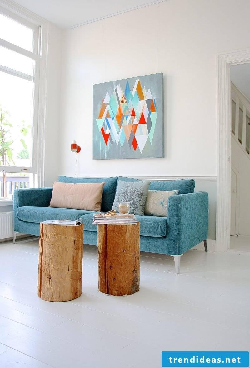 Living room design Scandinavian style furniture
