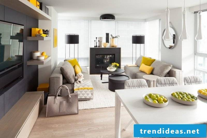 Living room design Scandinavian style colors