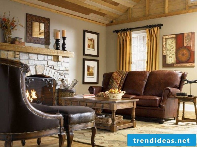 Living room design colonial style furniture