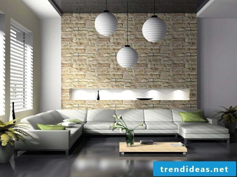Living room design ideas in 4 different furnishing styles