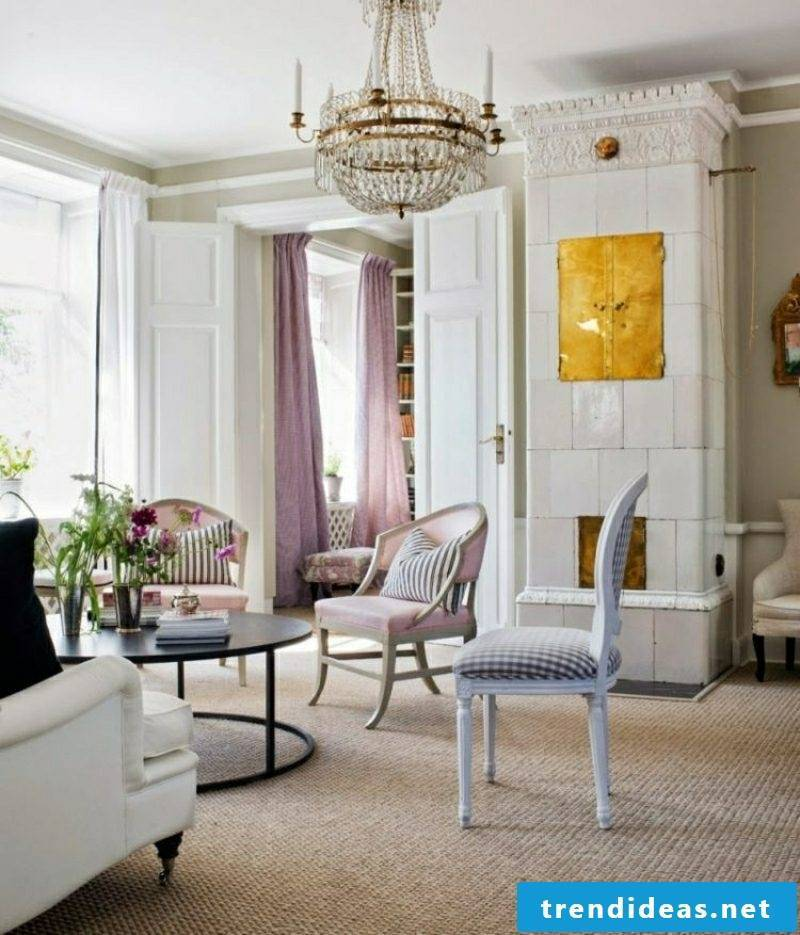 Living rooms create the simple elegance of the Scandinavian style