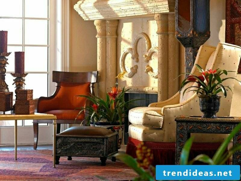 Living room create gorgeous look oriental Moroccan style