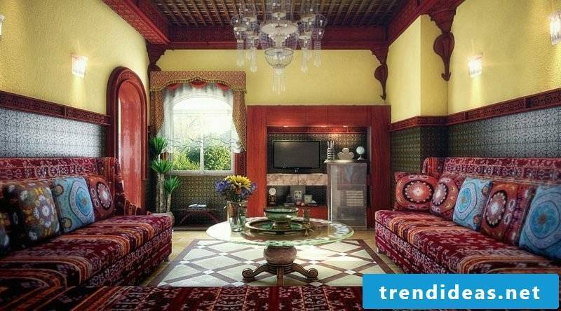 Living room design exotic look Moroccan style