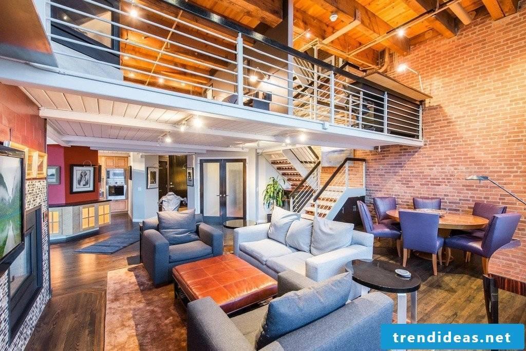 interesting loft apartment