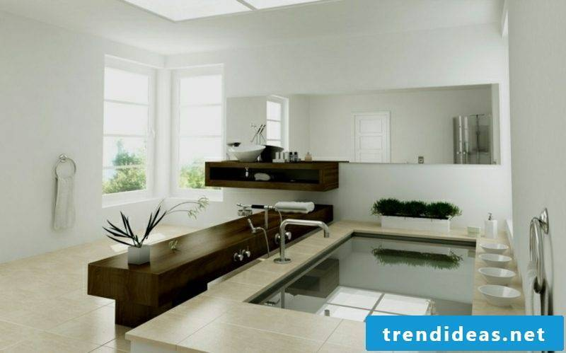 Luxury bathroom neutral color scheme small swimming pool