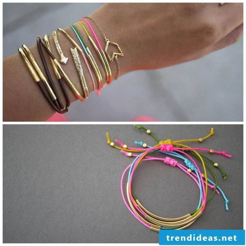bracelets colorfully tie