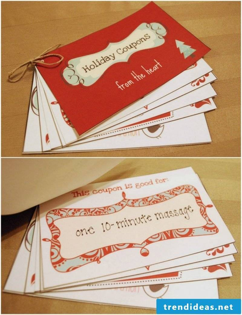 Make a gift coupon as a booklet