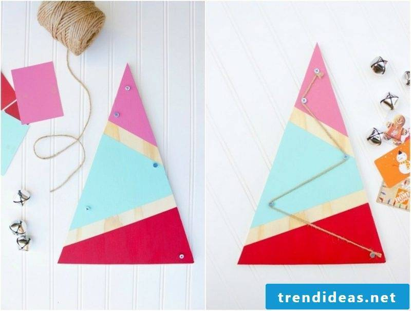 Crafts tinker Christmas tree picture tutorial