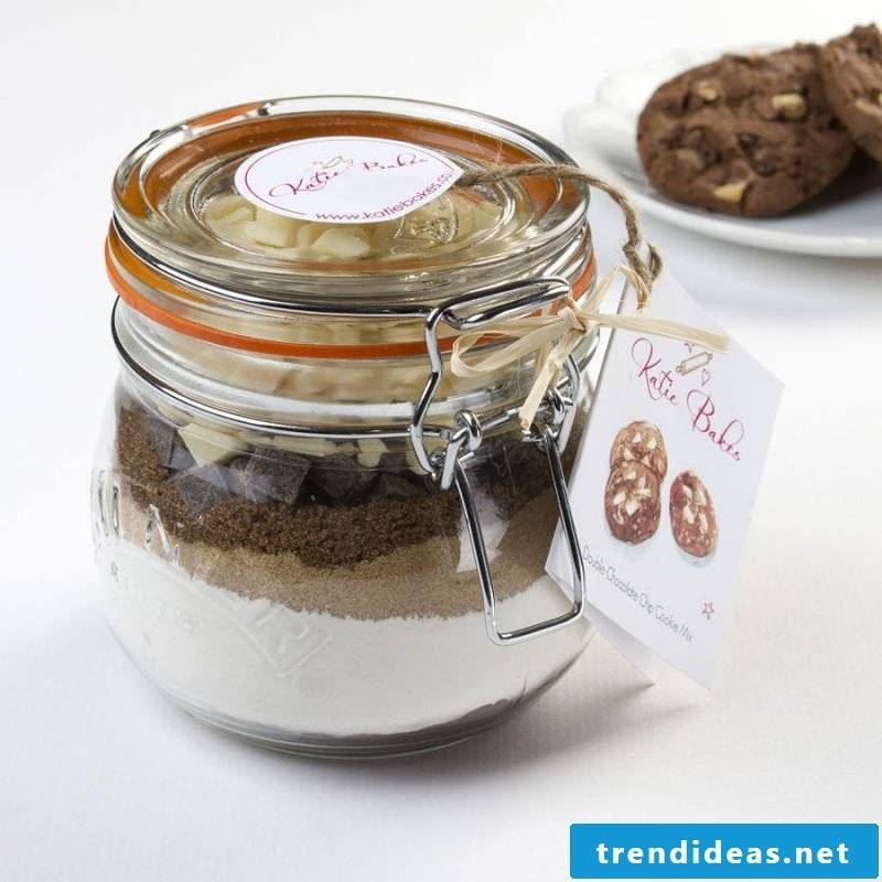 Make baking mix in the glass - gifts homemade