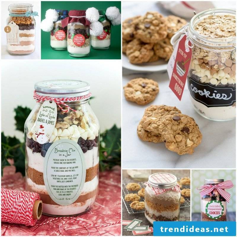 Cookies with oatmeal - make baking mix in the glass itself