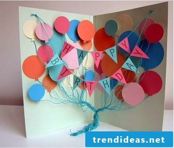 Balloons birthday card make yourself