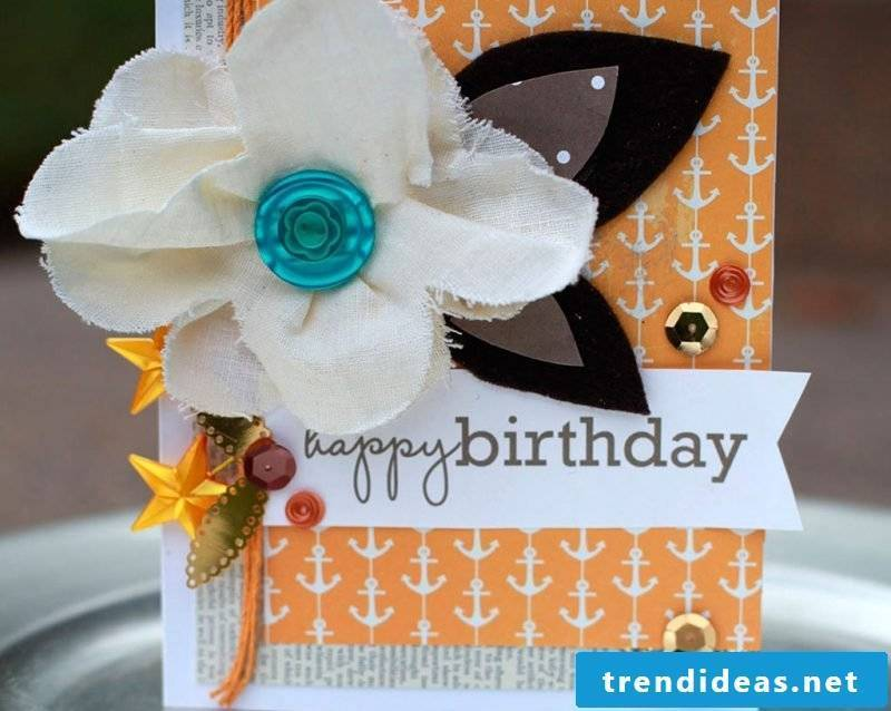 Make a birthday card yourself - DIY instructions